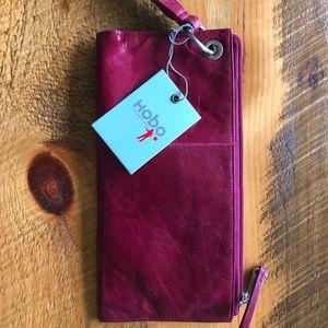 Red Hobo clutch wallet